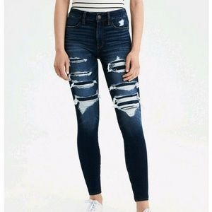 American eagle HIGH WAISTED JEGGING 12L Destroyed